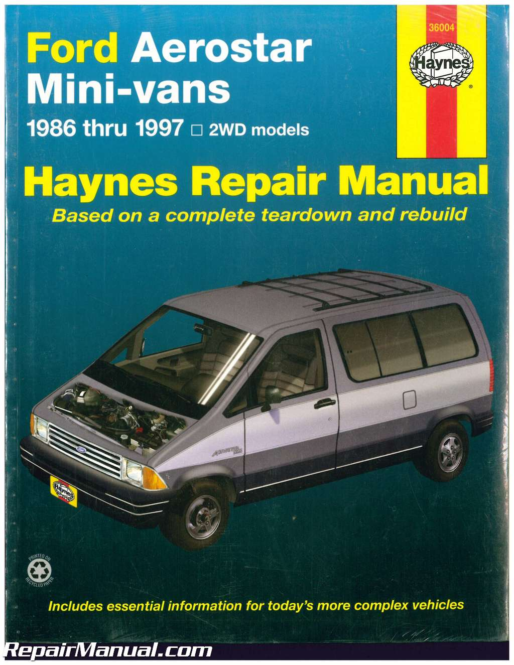 Used Haynes Ford Aerostar Mini Vans Auto Repair Manual