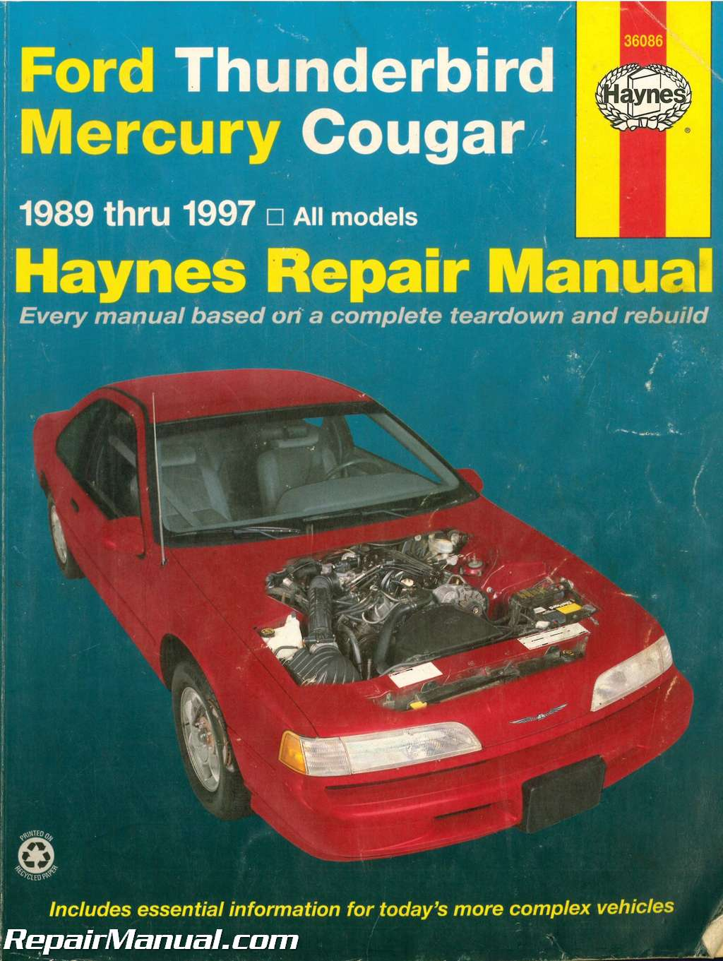 used haynes ford thunderbird mercury cougar 1989 1997 auto repair manual rh repairmanual com used automotive repair manuals used automotive repair manuals