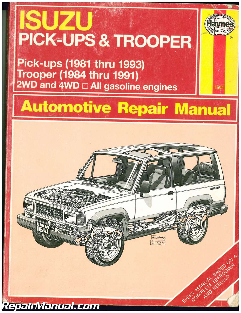 used haynes isuzu trooper pick ups 1981 1993 auto repair manual rh repairmanual com Isuzu Diesel Engine Parts Isuzu C240 Engine Parts