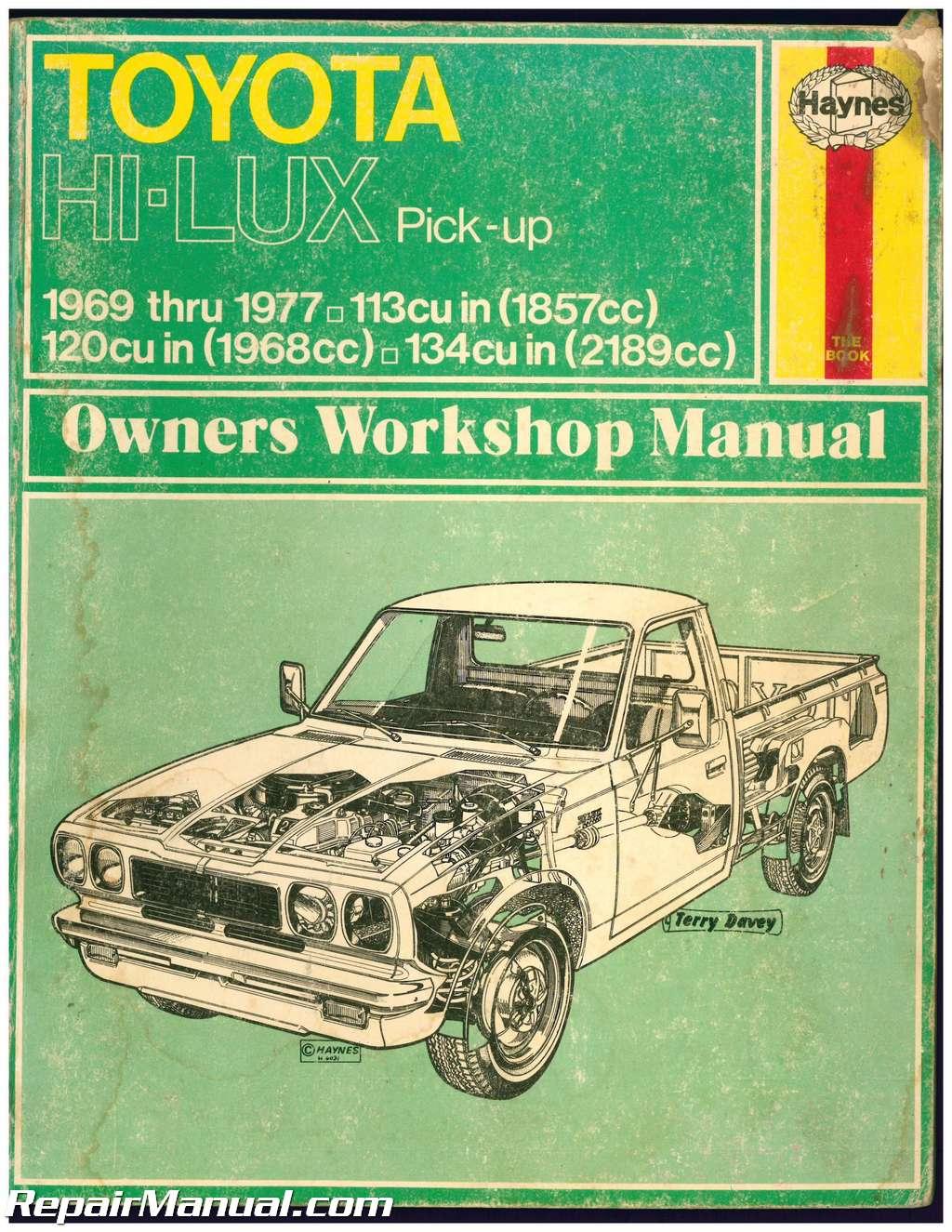 used haynes toyota pick up 1969 1977 auto repair manual rh repairmanual com Haynes Repair Manuals PDF Haynes Repair Manuals Online