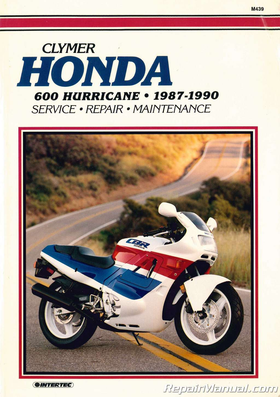 Used Honda CBR600 Hurricane Motorcycle Repair Manual 1987-1990 Clymer