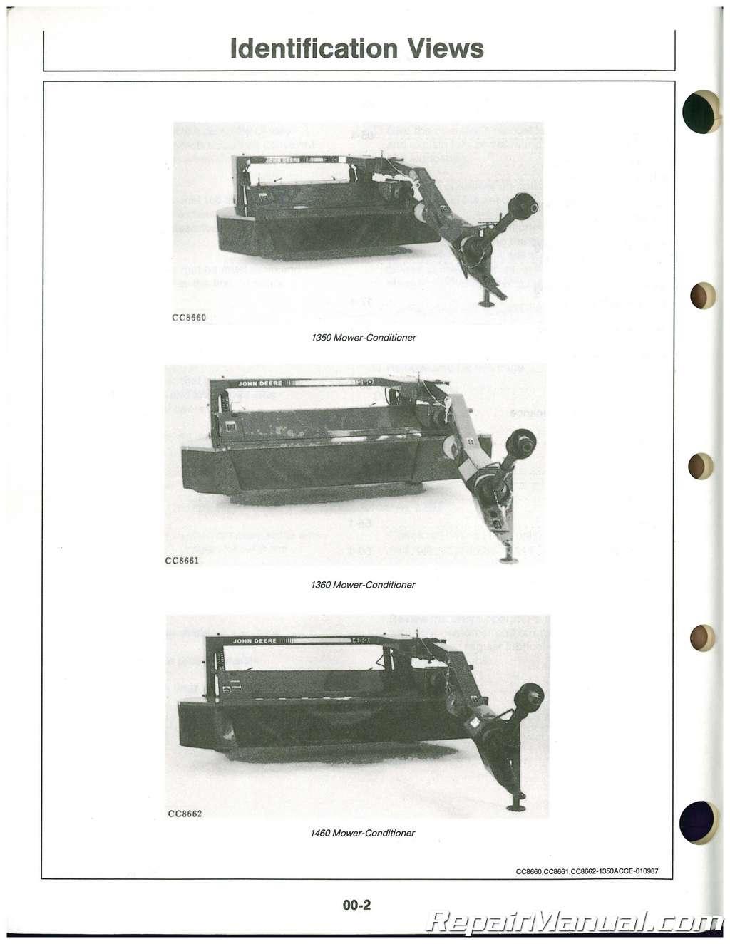 John Deere 1360 mower Manual
