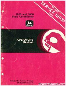 Used John Deere 1850 and 1860 Field Conditioner Operators Manual_001