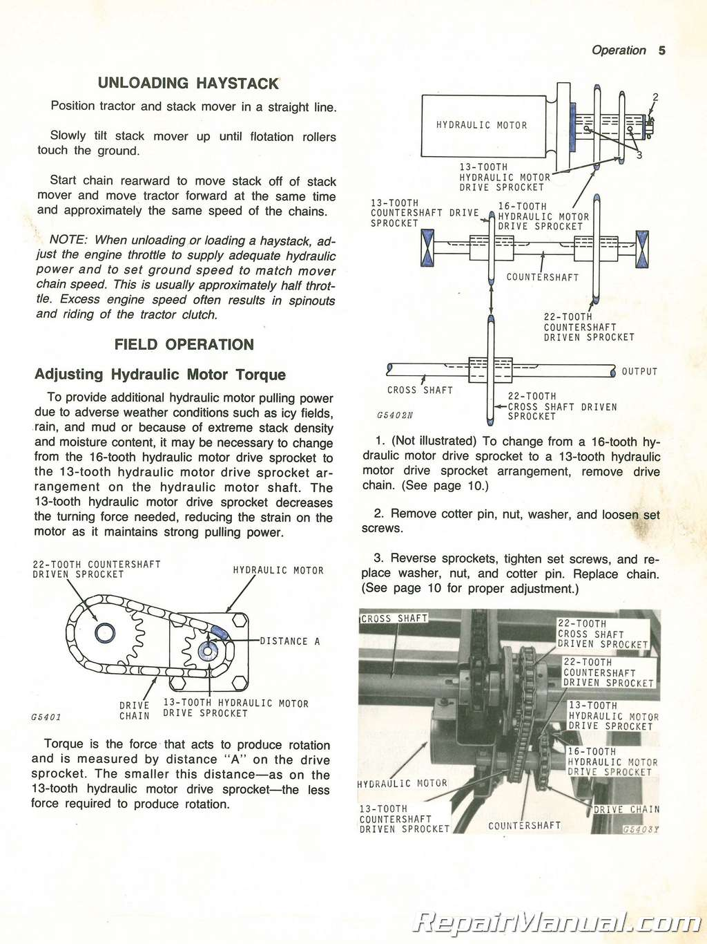 Used John Deere 200 Stack Mover Operators Manual Jd Series Hydraulics Schematic Diagram on