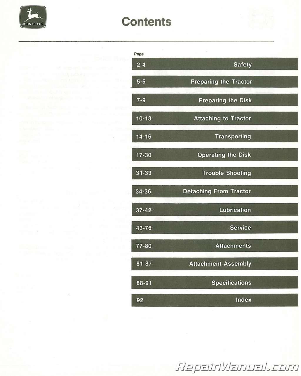 Deere 335 Manual