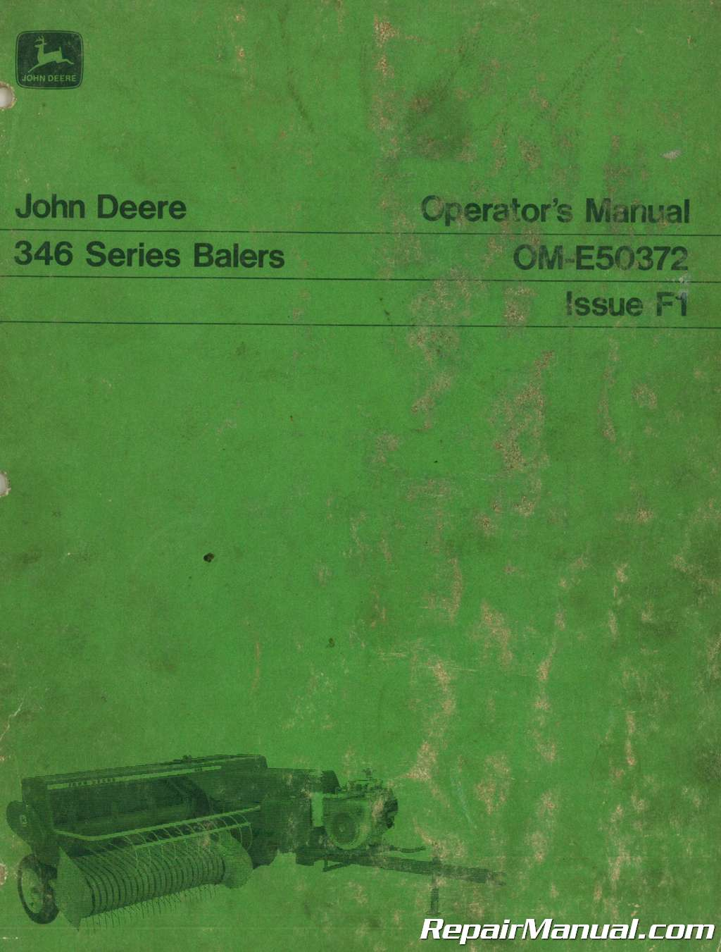 John Deere 346 Series Baler Operators Manual