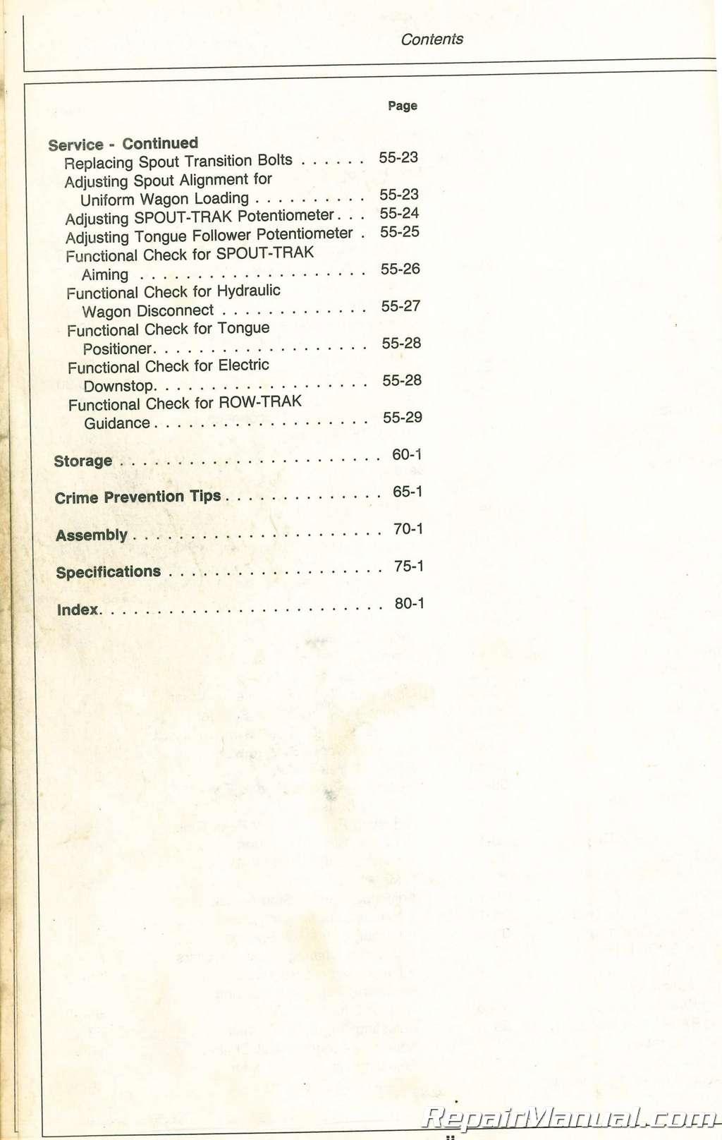 Used John Deere 3950 and 3970 Forage Harvesters Operators Manual