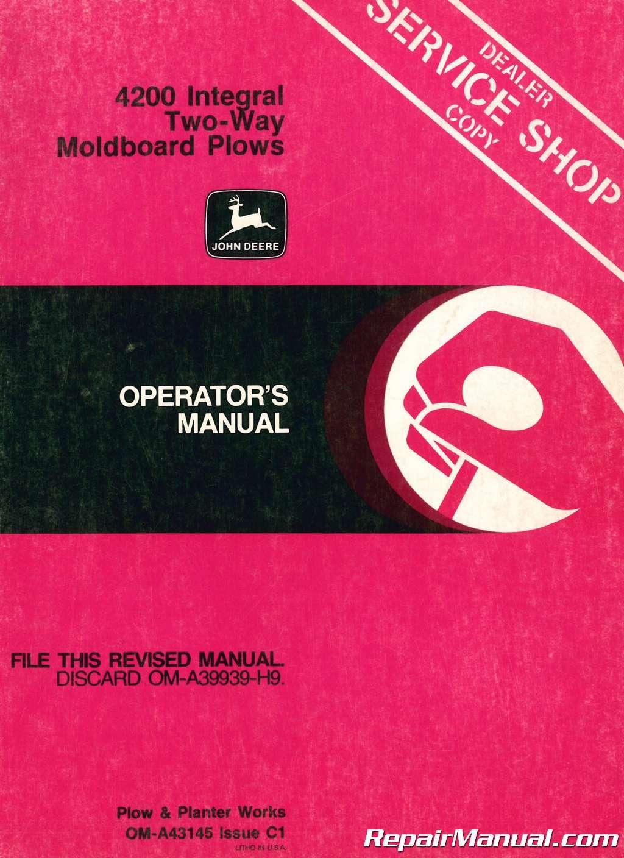 4200 John Deere Service Manual