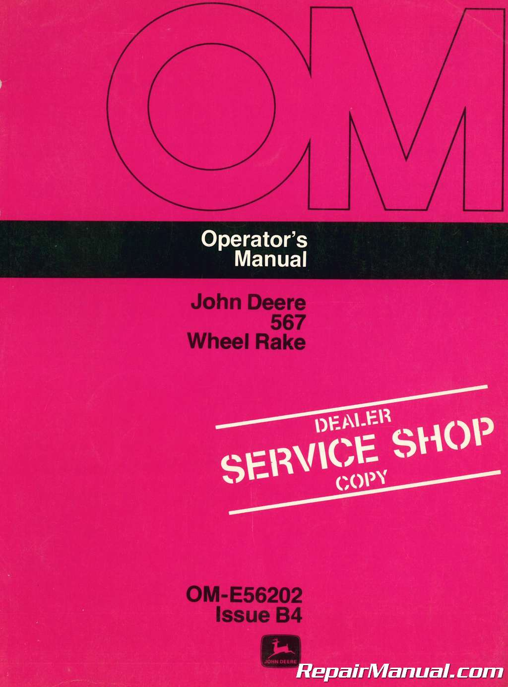 John Deere 567 Wheel Rake Operators Manual