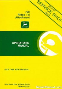 Used John Deere 720 Ridge Till Attachment Operators Manual_001