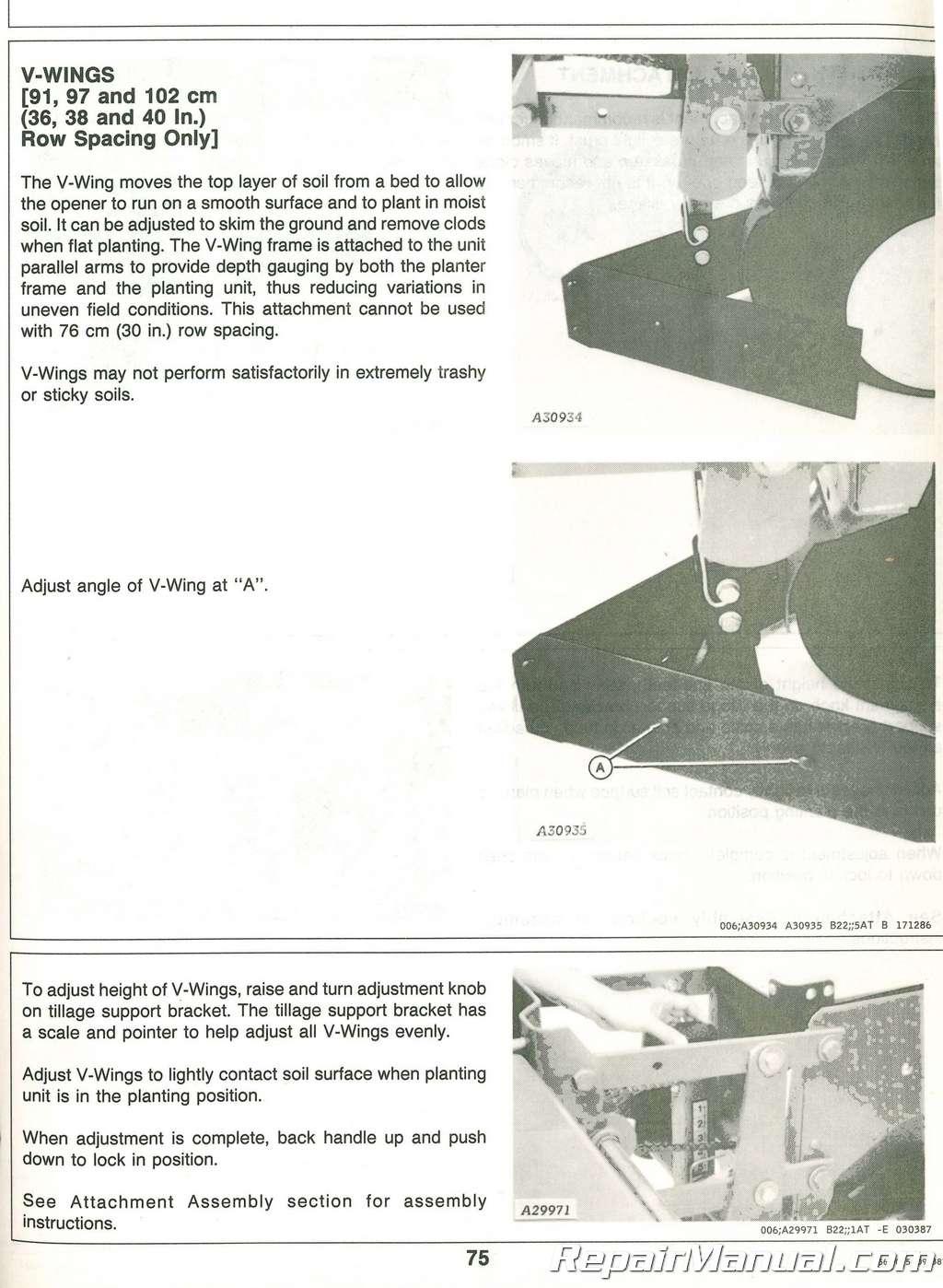 Used John Deere 7340 Narrow Row Max Emerge 2 Integral Planters Operator S Manual