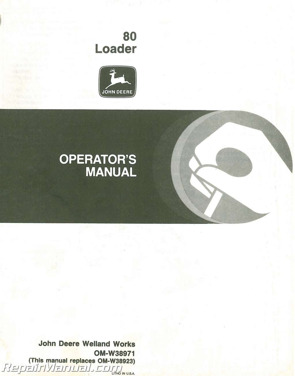 John Deere 80 Loader Operators Manual