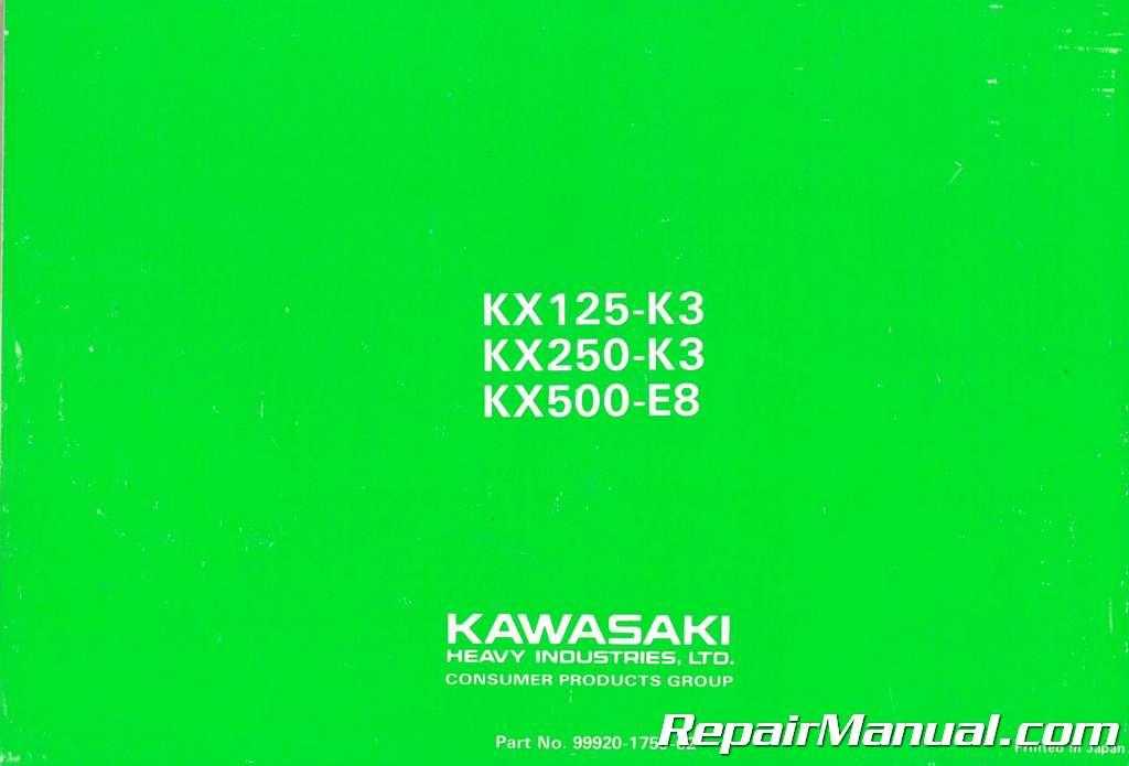 Used Kawasaki 1996 Kx125 250 And 500 Motorcycle Owners
