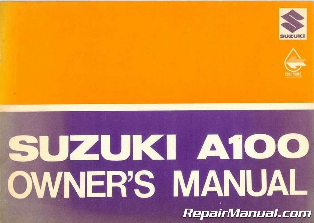 Used Suzuki A100 Owners Manual