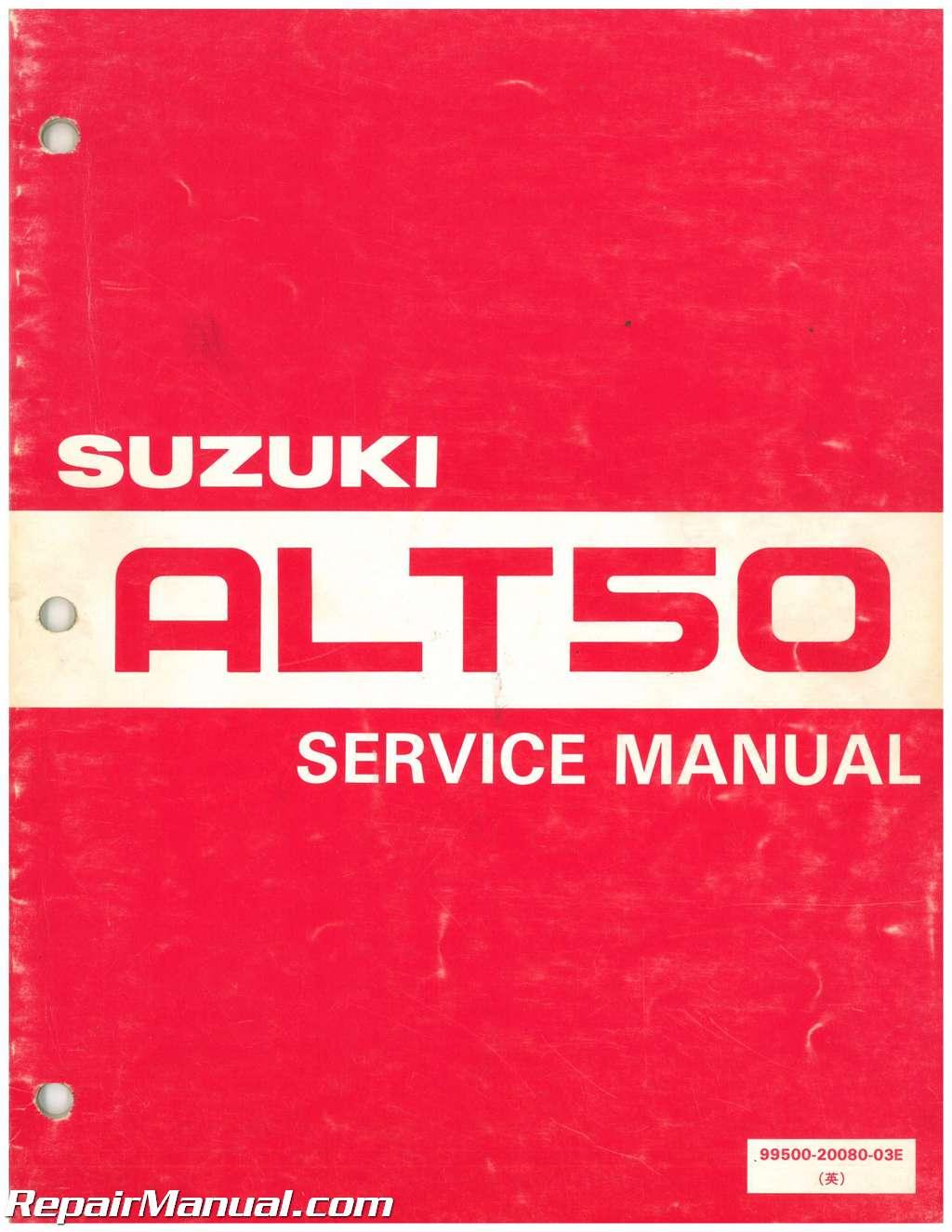 used suzuki alt50 manual trailbuddy 1983 1984 rh repairmanual com Suzuki Trail Buddy 50 Suzuki LT 50