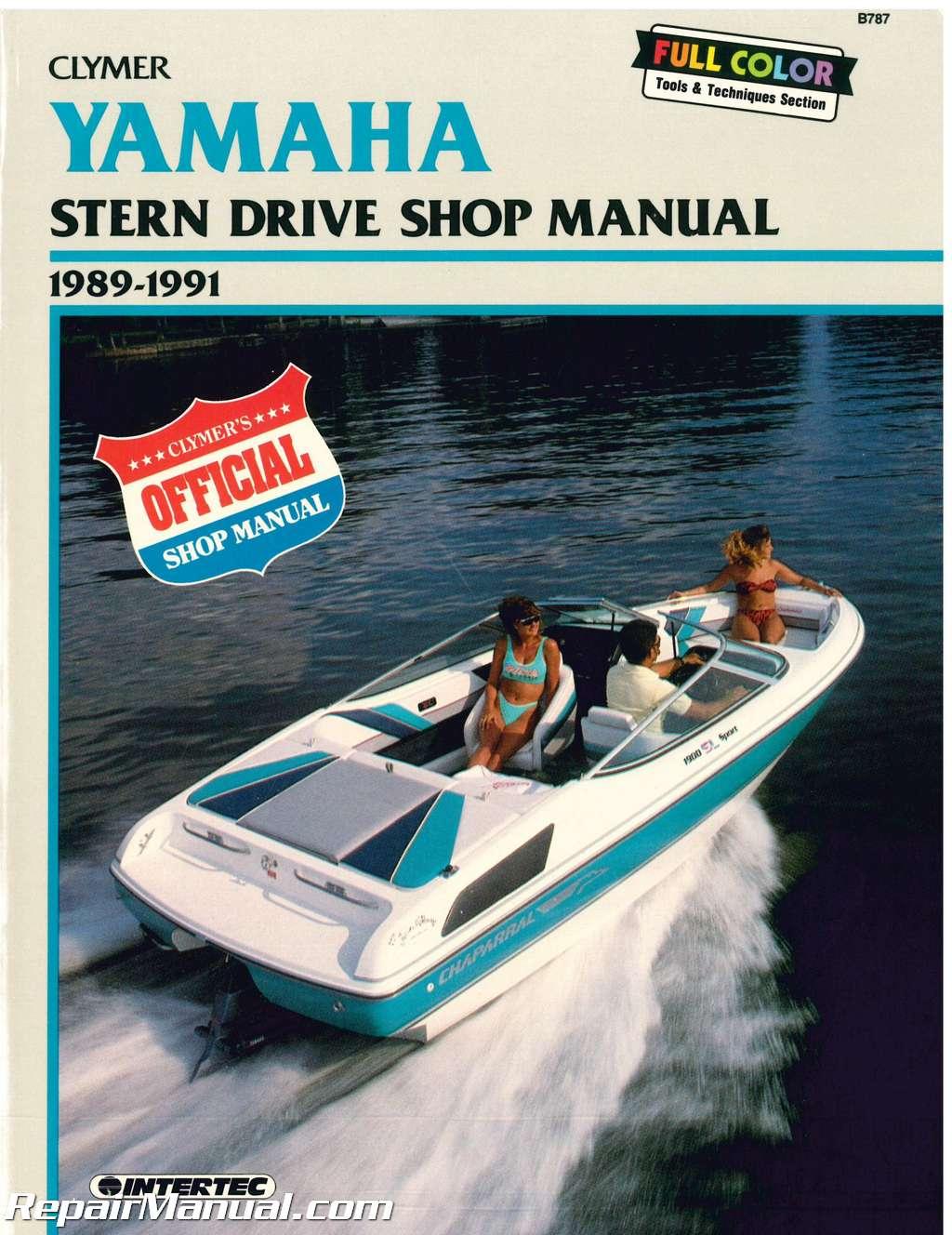 yamaha stern drive 1989 1990 1991 clymer boat engine repair manual rh repairmanual com Clymer Freeride Clymer Repair