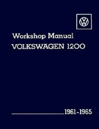 Volkswagen 1200 Workshop Manual 1961-1965
