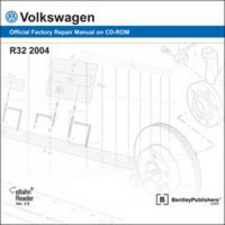 Volkswagen R32 2004 Official Factory Repair Manual On DVD-ROM