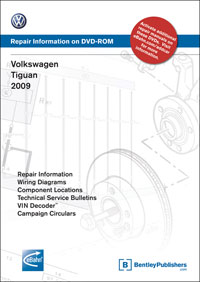 Volkswagen Tiguan 2009 Repair Manual on DVD-ROM