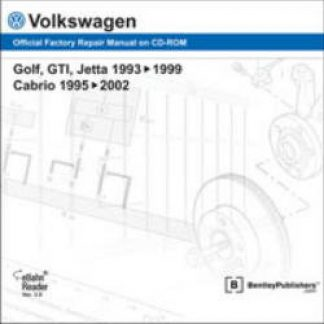 Volkswagen Golf GTI Jetta 1993-1999 Cabrio 1995-2002 Official Factory Repair Manual on CD-ROM
