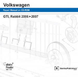 Volkswagen GTI Rabbit 2006-2009 Official Factory Repair Manual on DVD-ROM