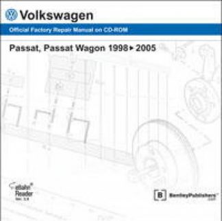 Volkswagen Passat Wagon 1998-2005 Factory Repair Manual On DVD
