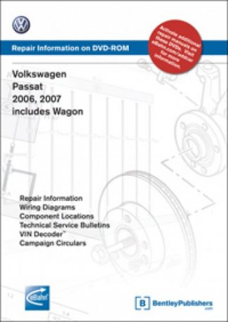 Volkswagen Passat 2006-2009 Official Factory Repair Manual On CD-Rom