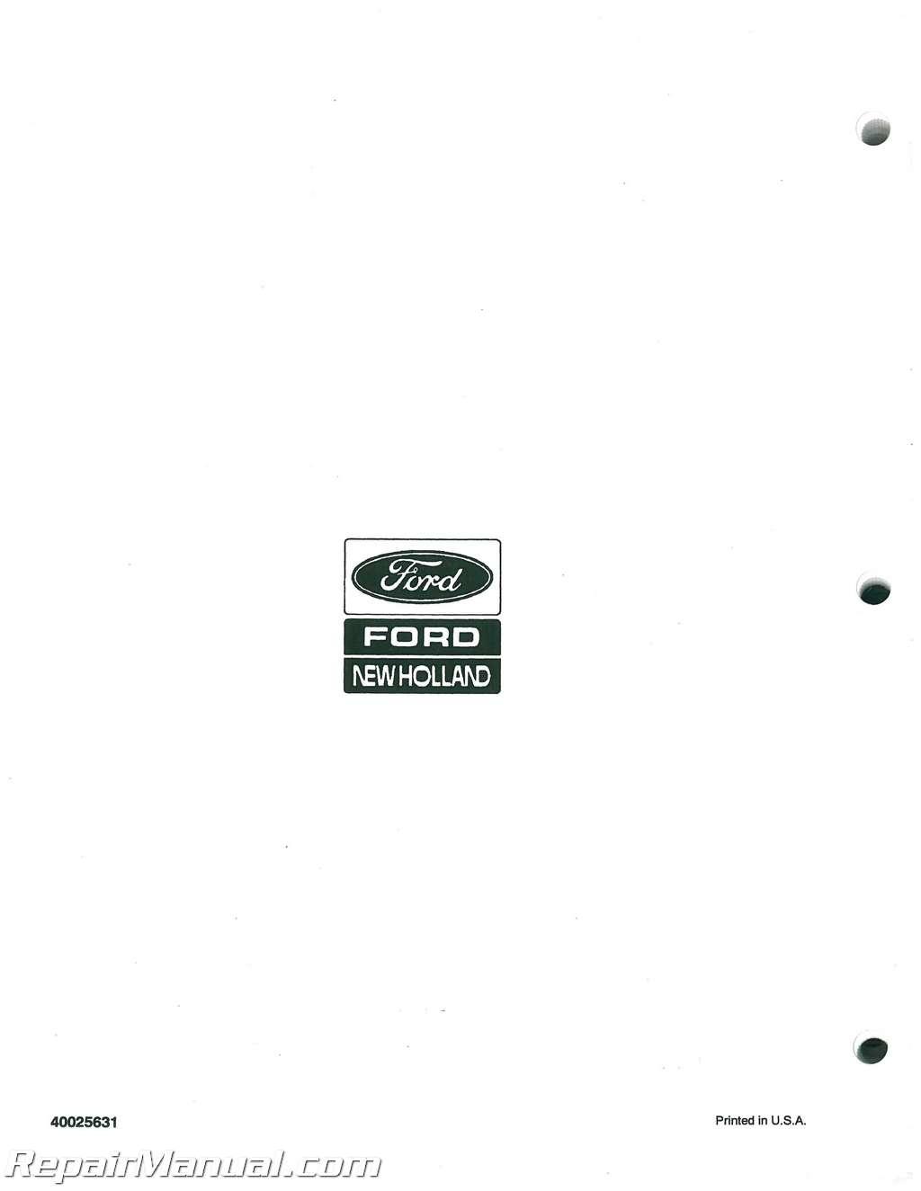 Versatile 256 276 Service Manual Tractor Wiring Diagram
