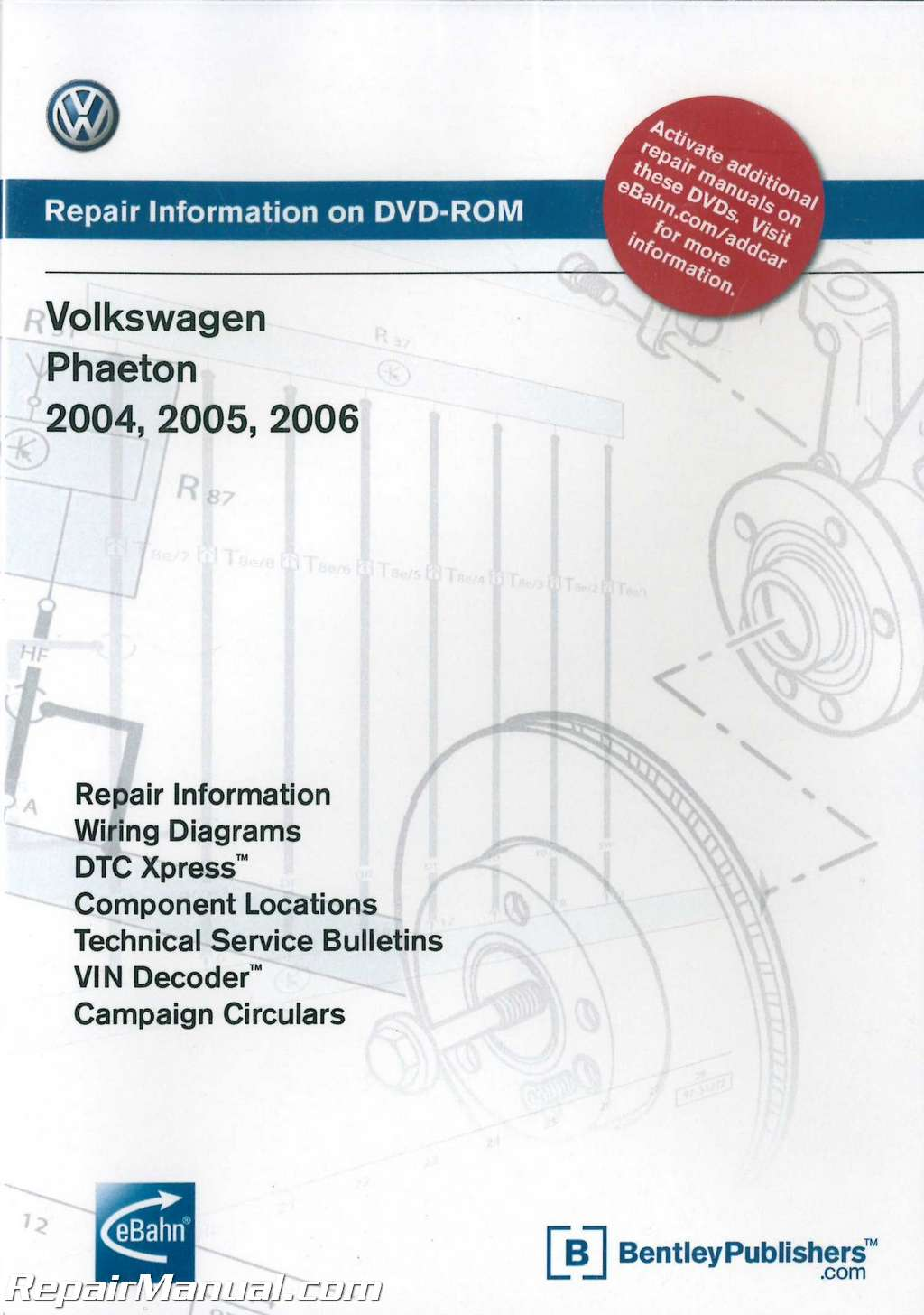 volkswagen phaeton 2004 2005 2006 repair manual on dvd rom rh repairmanual com Modified VW Cabrio 95 VW Cabrio MPG