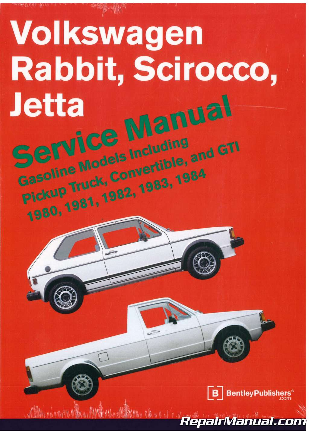 volkswagen rabbit scirocco jetta service manual 1980 1984 84 VW Rabbit Convertible volkswagen rabbit scirocco jetta service manual