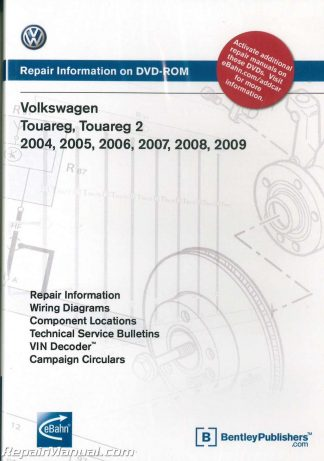 volkswagen touareg 2004 2009 repair manual on dvd rom rh repairmanual com 2004 volkswagen touareg owners manual download 2004 Volkswagen Touareg Interior