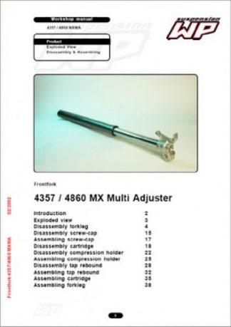 Official KTM WP 4357 4860 MXMA Suspension Fork Workshop Manual