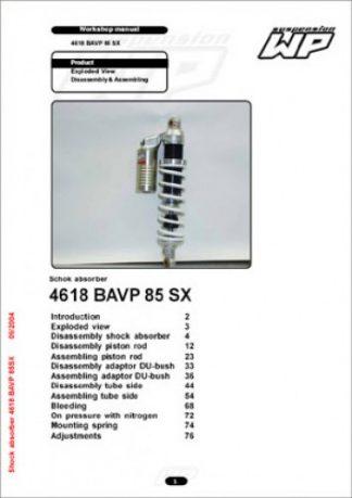KTM WP 4618 BAVP Suspension Shock Absorber Workshop Manual