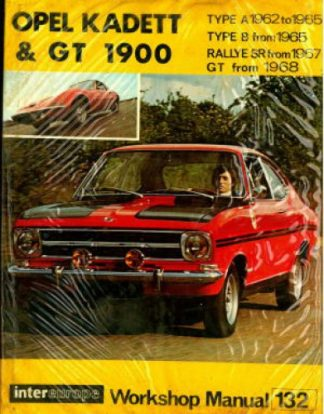 Used 1962-1968 Opel Kadett Rally Olympia & GT 1900 Workshop Manual