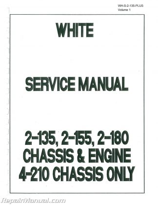 White Tractor Service Manual 2-70 2-85 2-105 2-150 2-135 2