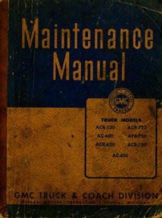 GMC Trucks Maintenance Manual 1944 Used