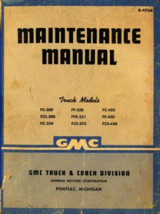 GMC Trucks Maintenance Manual 1947