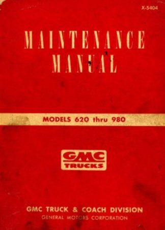 GMC Trucks Maintenance Manual 1954 Used