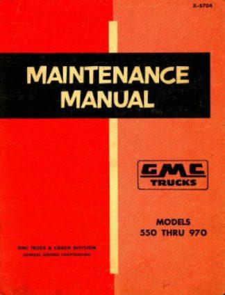 GMC Trucks Maintenance Manual