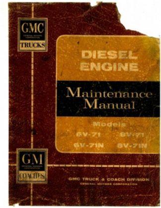 6V-71 N 8V-71 N Diesel Engine Service Manual reprint
