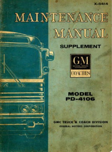 Model PD-4106 GM Bus Supplement Service Maintenance Manual