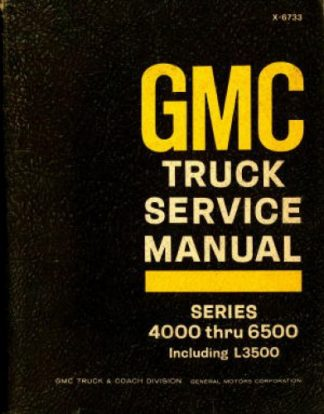 GMC Truck Service Manual 1966 Used