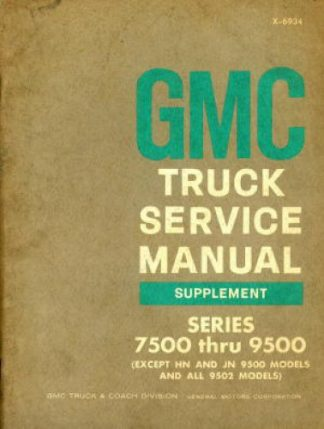 GMC Truck Service Manual Supplement 1968 Used
