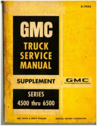 GMC Truck Service Manual Supplement 1969