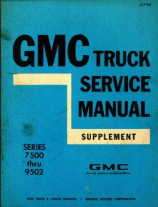 GMC Truck Service Manual Supplement 1970 Used