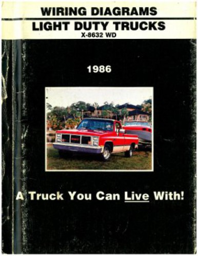 1986 Chevrolet Light Duty Trucks Wiring Diagrams Manual Used
