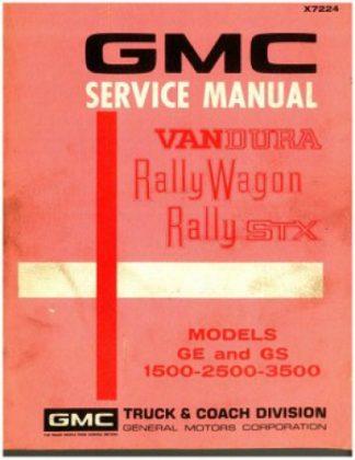 1971 GMC Service Manual Vandura Rally Wagon Rally STX Used