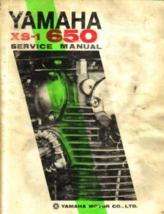 1970-1971 Yamaha XS-1 XS650 Factory Service Manual