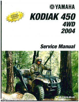yamaha kodiak 450 atv workshop repair manual download