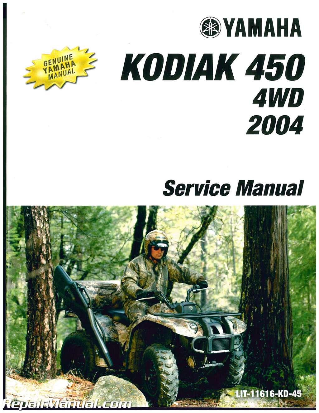 2004 yamaha kodiak 450 service manual